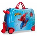 Maleta Infantil de 50 cm, Correpasillos, Spiderman Street, 4 Ruedas