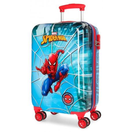 Maleta de Cabina Spiderman Street en ABS y con 4 Ruedas Dobles