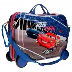 Maleta Infantil Correpasillos Cars Central de 4 Ruedas y en ABS