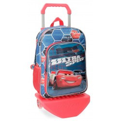 Mochila 38 cm. con Carro de 2 Ruedas Cars Ultra Speed
