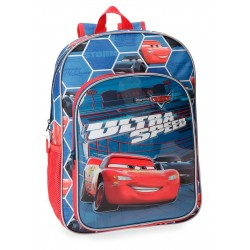 Mochila Mediana de 38 cm Cars Ultra Speed Adaptable a Carro