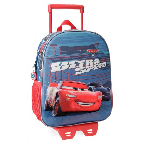 Mochila de 33 cm con carro de Cars Ultra Speed en 3 Dimensiones