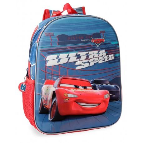 Mochila 33 cm Cars Ultra Speed, Adaptable a Carro en 3 Dimensiones