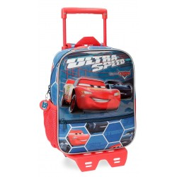 Mochila de 28 cm con carro Cars Ultra Speed con frontal en 3 Dimensiones