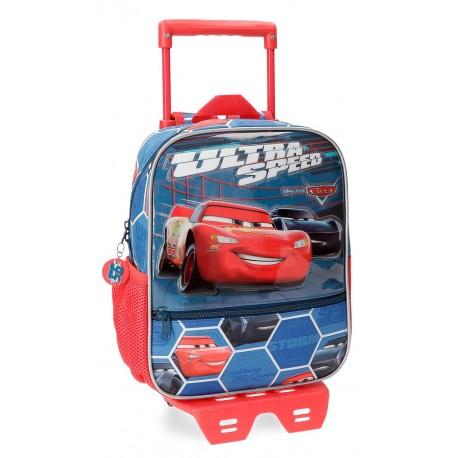 Mochila de 28 cm con carro Cars Ultra Speed con frontal en 3 Dimensiones
