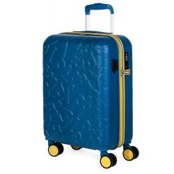Trolley Cabina Lois Zion Azul con Puerto USB para la Carga de Dispositivos Móviles