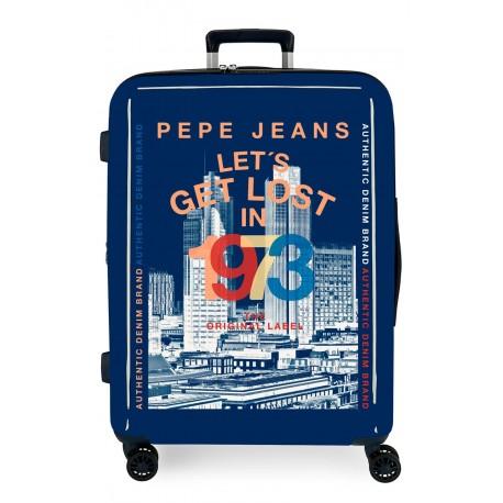 Maleta Mediana  Expandible de 70 cm en ABS de Pepe Jeans Leven  Connoe