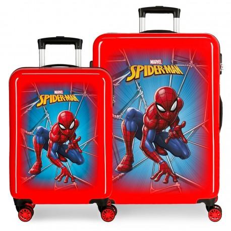 Juego Maletas Cabina y Mediana en ABS Spiderman Black
