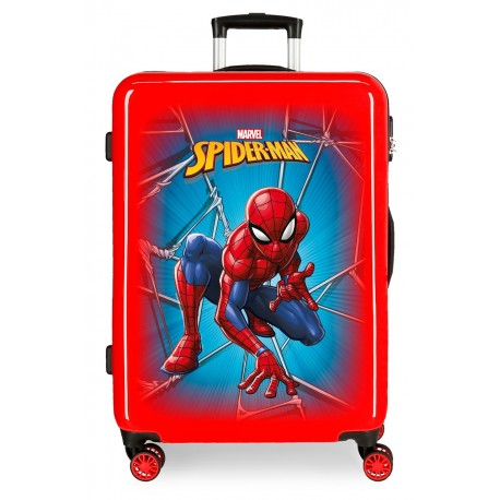 Maletaa Mediana en ABS de 4 ruedas de Spiderman Black