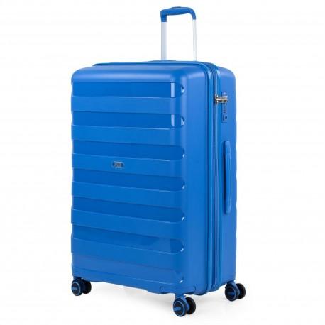 Maleta Grande Jaslen Colección Roma Azul en Polipropileno de 4 ruedas dobles