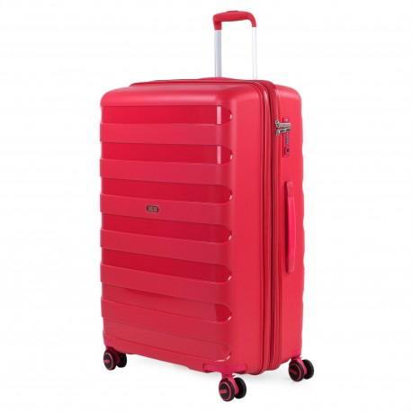 Maleta Grande Jaslen Colección Roma Rojo en Polipropileno de 4 ruedas dobles
