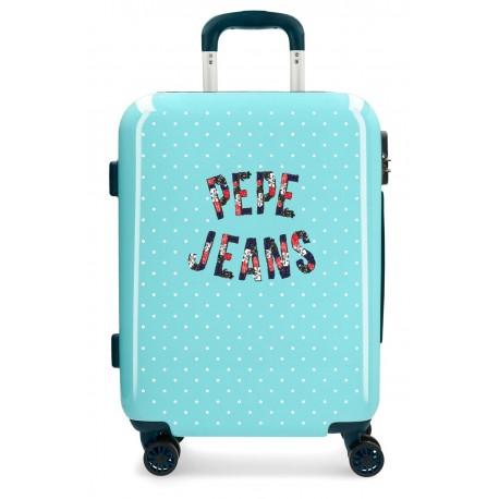 Maleta de Cabina Pepe Jeans Emory color Turquesa en ABS