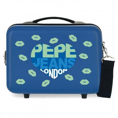 Neceser Rígido Pepe Jeans Ruth Azul Adaptable a Trolley