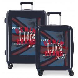 Juego de maletas Cabina y Mediana Pepe Jeans Chad en ABS